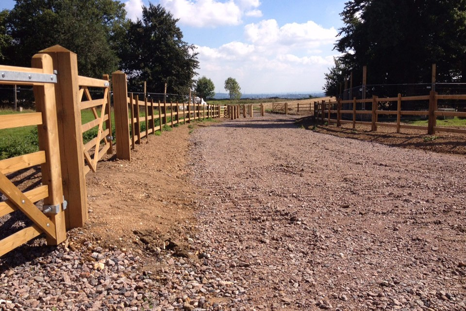 Fencing at Stanmore Country Park by Twig Group