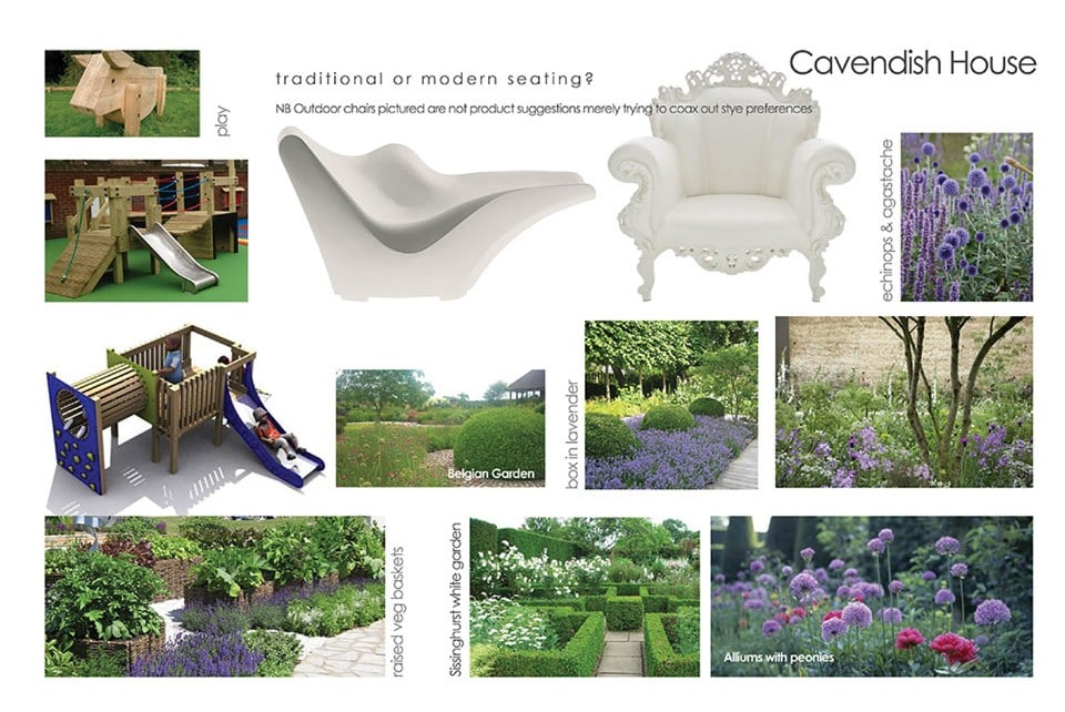 Concept photographs for private landscaping project