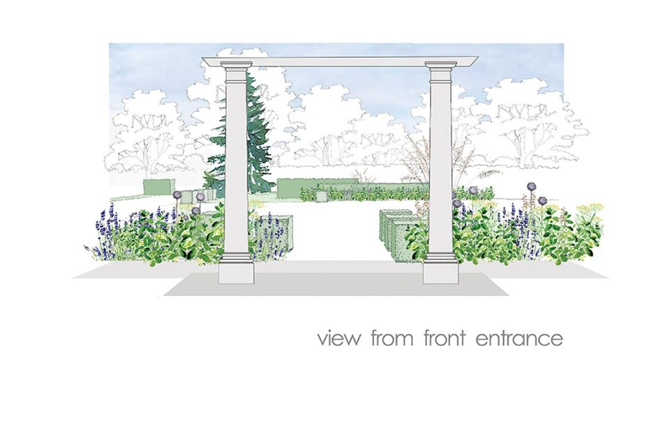 Landscape concept drawing, design and build Twig Group