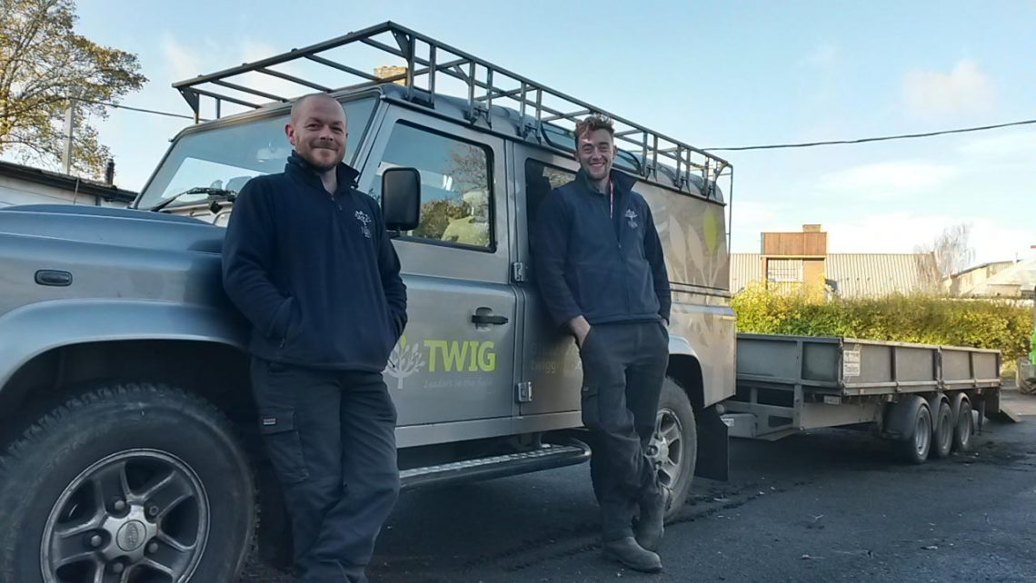 Hadlow students Alex and Tom at The Twig Group